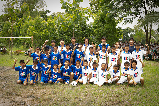 Project to support sports and education for the children